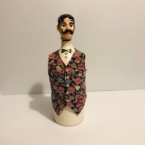 THE BARTENDER DECANTER FIGURINE VINTAGE PIECE